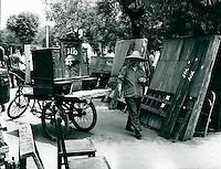 Möbelmarkt in Peking, China 1980