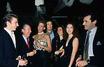 AIMONE D'AOSTA CON CARLO GIOVANELLI, MAFALDA D'AOSTA, URBANO BARBERINI, ALESSANDRA BORGHESE, YVONNE SCIO' E FERDINANDO BRACHETTI PERETTI<br /> COMPLEANNO MAFALDA D'AOSTA      ALIEN CLUB  ROMA 1993