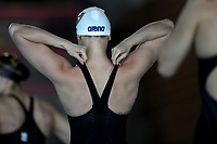 Elena Di Liddo of Carabinieri - CC Aniene prepares to compete in the 50m Butterfly Women preliminaries during the Italian swimming championship at Stadio del Nuoto in Riccione (Italy), April 3rd, 2021. Elena Di Liddo placed second and qualified to the final.