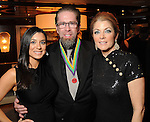 From left: Rachel and Jeff Bagwell with Paige Fertitta at the San Luis Salute to Mardi Gras in Galveston Friday Feb. 13,2015.(Dave Rossman Photo)