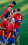 Spain's Diego Costa, Iago Aspas, Gerard Pique, Sergio Ramos, Sergio Busquets and Andres Iniesta during training session. March 20,2017.(ALTERPHOTOS/Acero)