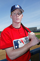 February 10 2008: Christian Griffiths participates in a MLB pre draft workout for high school players at the Urban Youth Academy in Compton,CA.  Photo by Larry Goren/Four Seam Images