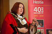Camden Mayor Councillor Heather Johnson speaks at a White Ribbon relay event organised by Hestia Housing & Support to raise awareness about violence against women and girls.  Camden Town Hall, London, 20/7/12.