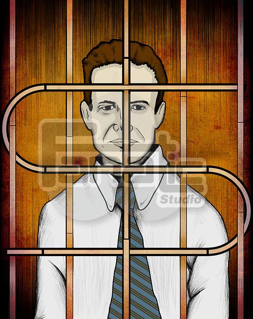 Businessman behind prison bars