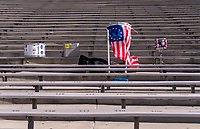 PASADENA, CA - AUGUST 3: Drums from the American Outlaws sits in the stands during a game between Ireland and USWNT at Rose Bowl on August 3, 2019 in Pasadena, California.