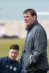 St Johnstone Training…04.05.18<br />Manager Tommy Wright pictured during training this morning at McDiarmid Park<br />Picture by Graeme Hart.<br />Copyright Perthshire Picture Agency<br />Tel: 01738 623350  Mobile: 07990 594431