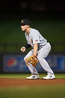 Mesa Solar Sox second baseman Nick Allen (3), of the Oakland Athletics organization, during an Arizona Fall League game against the Salt River Rafters on September 19, 2019 at Salt River Fields at Talking Stick in Scottsdale, Arizona. Salt River defeated Mesa 4-1. (Zachary Lucy/Four Seam Images)