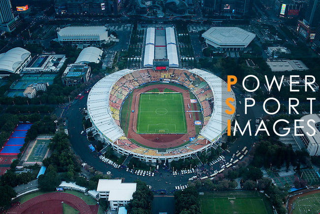 Aerial view of the Tianhe Sport Center prior the Guangzhou Evergrande vs Al Ahli AFC Champions League Final Match 2nd Leg on 21 November 2015 in Guangzhou, China. Photo by Baiyu Zhu / Power Sport Images