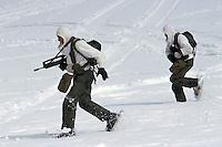 """- mountain troops """"Hunters of the Alps""""  during military exercises in High Savoia ....- truppe di montagna """"Cacciatori delle Alpi"""" durante esercitazioni militari in Alta Savoia"""