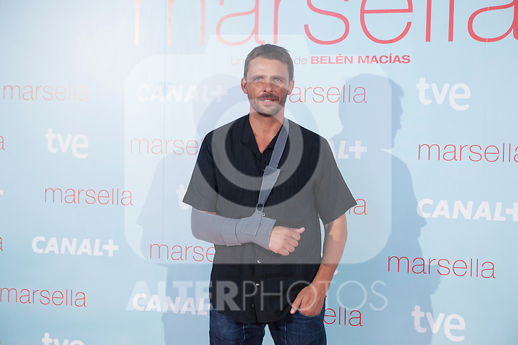 Luis Mottola poses at `Marsella´ film premiere photocall at Capital cinema in Madrid, Spain. July 17, 2014. (ALTERPHOTOS/Victor Blanco)
