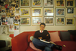 Michael Simon White was a British theatrical impresario and film producer. <br /> in his London office. 1975  1970s. UK.
