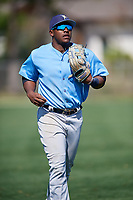 Tampa Bay Rays Moises Gomez (70) during a Minor League Spring Training game against the Minnesota Twins on March 15, 2018 at CenturyLink Sports Complex in Fort Myers, Florida.  (Mike Janes/Four Seam Images)