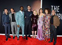 "LOS ANGELES, CA: 24, 2020: Leigh Whannell, Michael Dorman, Aldis Hodge, Oliver Jackson-Cohen, Elisabeth Moss, Storm Reid, Donna Langley & Ron Meyer at the premiere of ""The Invisible Man"" at the TCL Chinese Theatre.<br /> Picture: Paul Smith/Featureflash"