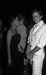 CLAUDIA CARDINALE CON MIGUEL BOSE'<br /> PREMIO DAVID DI DONATELLO ROMA 1982