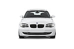 Straight front view of a 2007 - 2011 BMW 1-Series 123d 3 Door Hatchback 2WD.