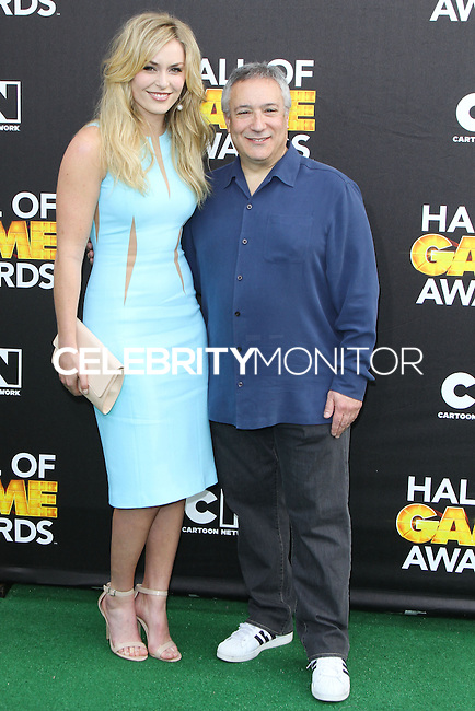 SANTA MONICA, CA, USA - FEBRUARY 15: Lindsey Vonn, Stuart Snyder at the 4th Annual Cartoon Network Hall Of Game Awards held at Barker Hangar on February 15, 2014 in Santa Monica, California, United States. (Photo by David Acosta/Celebrity Monitor)