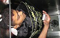 """A Palestinian Martyr from Islamic Jihad  in Refrigerator at a hospital in Gaza City following an Israeli offensive, 27 June 2007.11 Palestinians were killed as Israel launched twin offensives in the Gaza Strip, triggering the deadliest violence since Hamas fighters overran the territory 12 days ago.""""photo By Fady Adwan"""""""
