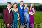 Attending the Killarney Community College, St. Brendan's and St. Bridget's School debs in the Ballyroe Heights Hotel on Monday night. L to r: Thomas Cronin (Muckross), Elizabeth Stack (Killarney), Peter O'Sullivan (Killarney), Orla Spillane (Killarney) and Rebecca Osborne (Killarney).
