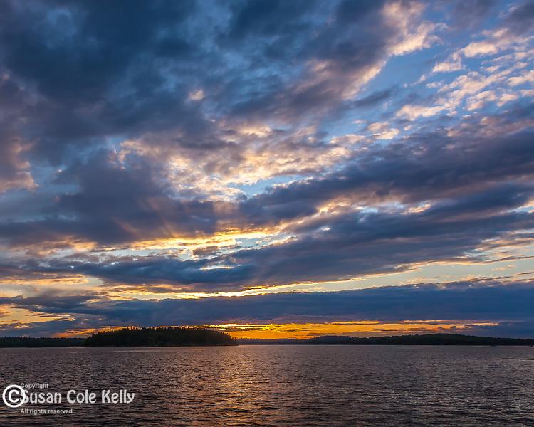 Sunset on Taunton Bay in Hancock County, ME, USA