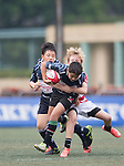 Peninsula VS Island U12 GFI HKFC Rugby Tens 2016 on 07 April 2016 at Hong Kong Football Club in Hong Kong, China. Photo by Marcio Machado / Power Sport Images