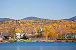Fall foliage on Rangeley  Lake in Rangeley, ME, USA