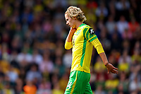 28th August 2021; Carrow Road, Norwich, Norfolk, England; Premier League football, Norwich versus Leicester; Todd Cantwell of Norwich City shows signs of a neck injury