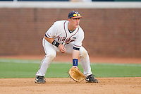 First baseman Kenny Swab #35 of the Virginia Cavaliers on defense against the VCU Rams at the Charlottesville Regional of the 2010 College World Series at Davenport Field on June 4, 2010, in Charlottesville, Virginia.  The Cavaliers defeated the Rams 14-5.  Photo by Brian Westerholt / Four Seam Images