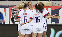JACKSONVILLE, FL - NOVEMBER 10: Carli Loyd #10 of the United States scores a goal and celebrates during a game between Costa Rica and USWNT at TIAA Bank Field on November 10, 2019 in Jacksonville, Florida.