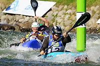5th September 2021; Parc Olimpic del Segre, La Seu D'Urgell ICF Slalom World Cup, Men's  Extreme Slalom Semi-Finals;  Aigner (GER) and Oschmautzf (AUT)