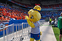 LYON, FRANCE - JULY 07: FIFA mascot during a game between Netherlands and USWNT at Stade de Lyon on July 07, 2019 in Lyon, France.