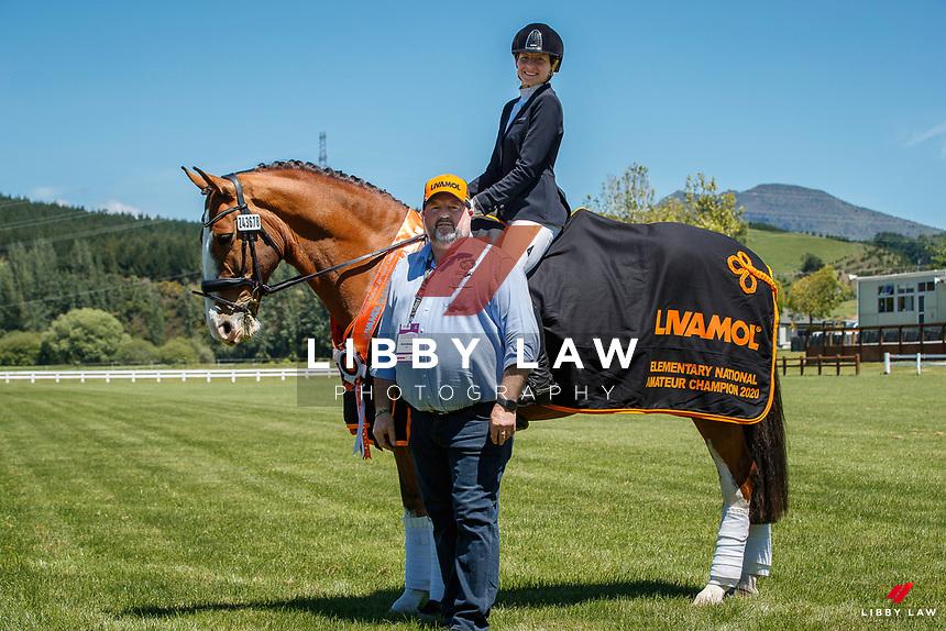 Livamol Elementary Amateur Championship: NZL-Amy Arnott rides Rata Mill Jefferson. 2020 NZL-Bates Saddles NZ Dressage Championships. NEC Taupo. Friday 20 November 2020. Copyright Photo: Libby Law Photography