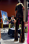 Dozens of artists from around the state of Nevada including Talia Koval, painting live talks with Vinnie of Reno Tahoe Unified Flow, at the annual Capital Collage in Carson City, Nev., on Friday, October 27, 2017. <br /> Photo by Lance Iversen/Nevada Momentum