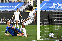 Barbara Bonansea of Italy scores a goal during the Women s EURO 2022 qualifying football match between Italy and Israel at stadio Carlo Castellani in Empoli (Italy), February, 24th, 2021. Photo Image Sport / Insidefoto