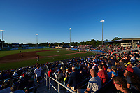 General view of a Batavia Muckdogs game against the Auburn Doubledays on July 4, 2017 at Dwyer Stadium in Batavia, New York.  Batavia defeated Auburn 3-2.  (Mike Janes/Four Seam Images)