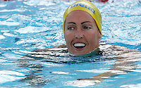 Sweden's Therese Alshammar reacts after setting the new world record clocking 25.07 in a Women's 50m Butterfly semifinal at the Swimming World Championships in Rome, 31 July 2009..UPDATE IMAGES PRESS/Riccardo De Luca