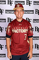 Julian De Alva (3) of Ironwood Ridge High School in Oro Valley, Arizona during the Baseball Factory All-America Pre-Season Tournament, powered by Under Armour, on January 12, 2018 at Sloan Park Complex in Mesa, Arizona.  (Mike Janes/Four Seam Images)