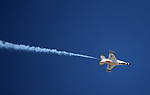 The U.S.A.F. Thunderbirds perform at the 2017 Aviation Roundup, in Minden, Nev., on Sunday, Oct. 8, 2017. <br /> Photo by Cathleen Allison/Nevada Momentum