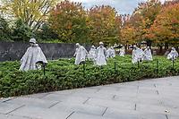 Korean War Memorial,  by Sculptor Frank Gaylord, Washington, DC, USA.