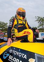 Apr 13, 2019; Baytown, TX, USA; NHRA funny car driver J.R. Todd during qualifying for the Springnationals at Houston Raceway Park. Mandatory Credit: Mark J. Rebilas-USA TODAY Sports