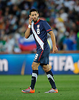 Clint Dempsey of USA shows his confusion