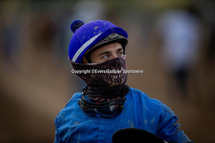 January 03, 2021: Umberto Rispoli at Santa Anita Park in Arcadia, California on January 3, 2021. Evers/Eclipse Sportswire/CSM