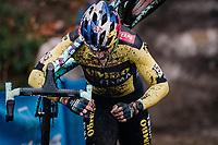 Wout van Aert (BEL/Jumbo-Visma) racing the muddy X2O Herentals Cross in Belgium on 23 december 2020<br /> <br /> ©kramon/RedBull