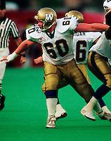 Dave Vankoughnett Winnipeg Blue Bombers 1992. Photo F. Scott Grant
