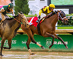 LOUISVILLE, KY - MAY 05: Benner Island with Javier Castellano wins the Eight Belles on Kentucky Oaks Day at Churchill Downs on May 5, 2017 in Louisville, Kentucky. (Photo by Sue Kawczynski/Eclipse Sportswire/Getty Images)