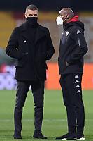 Paolo Maldini Technical area Director of AC Milan wiring the mask Covid-19 prior to the Serie A football match between Benevento Calcio and AC Milan at stadio Ciro Vigorito in Benevento (Italy), January 03rd, 2021. <br /> Photo Cesare Purini / Insidefoto