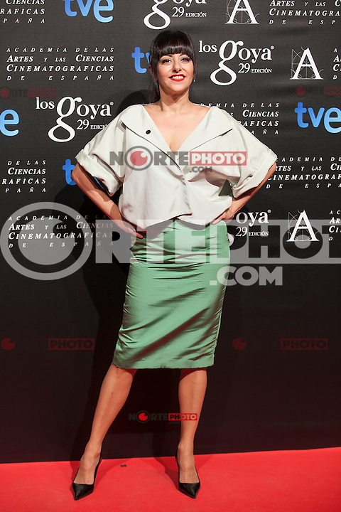 Yolanda Ramos poses before the 2015 Goya Awards nominee ceremony in Madrid, Spain. January 19, 2015. (ALTERPHOTOS/Victor Blanco)