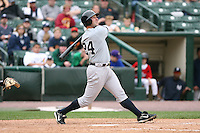 June 1st 2008:  Outfielder Jason Lane (24) of the Scranton Wilkes-Barre Yankees, Class-AAA affiliate of the New York Yankees, during a game at Frontier Field in Rochester, NY.  Photo By Mike Janes/Four Seam Images