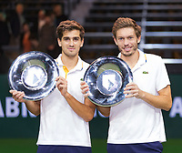 Rotterdam, The Netherlands, 18 Februari, 2018, ABNAMRO World Tennis Tournament, Ahoy, Doubles final,Winners:  Pierre-Hugues Herbert (FRA) / Nicolas Mahut (FRA), <br /> <br /> Photo: www.tennisimages.com