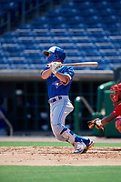 Toronto Blue Jays Davis Schneider (5) at bat during an Instructional League game against the Philadelphia Phillies on September 17, 2019 at Spectrum Field in Clearwater, Florida.  (Mike Janes/Four Seam Images)