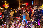 NYPD police officers on bicycles encircle demonstrators marching during a protest demanding every vote cast be counted in the 2020 presidential election between U.S. President Donald Trump and former Vice President Joe Biden on November 4, 2020 in New York City.  Photograph by Michael Nagle